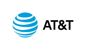 AT&T logo with letters on right